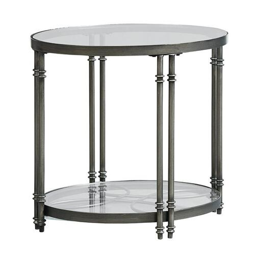 Terrazza Metal End Table, Burnished Metal