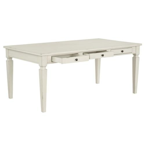 Standard Furniture - Chesapeake Bay Dining Table with Storage, White
