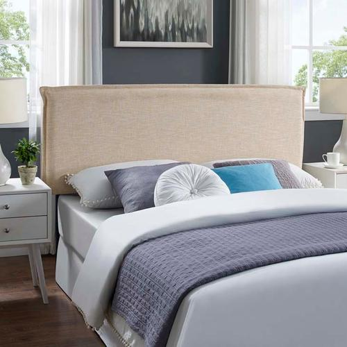 Modway - Camille Full Upholstered Fabric Headboard in Beige