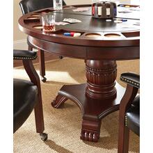"Tournament Game Table Top, Black, 50"" Round"