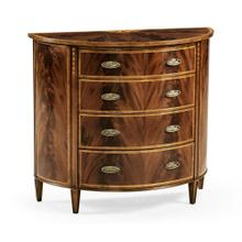 Mahogany Demilune Chest of Drawers