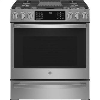 """GE Profile 30"""" Dual Fuel Slide-In Range with Wifi Stainless Steel - PC2S930YPFS"""