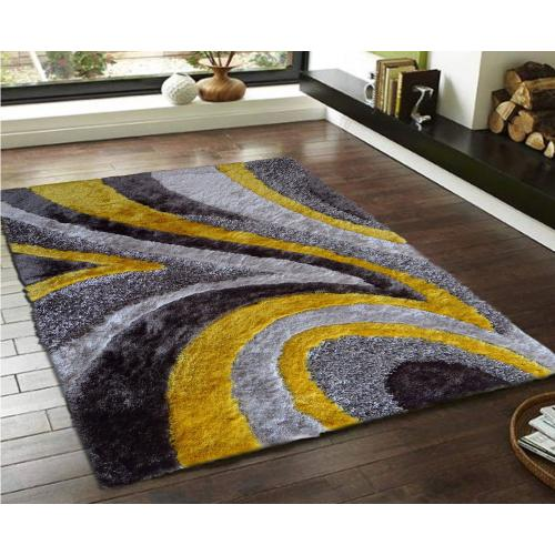 """Designer Shag S.V.D. 26 Area Rug by Rug Factory Plus - 7'6"""" x 10'3"""" / Yellow"""
