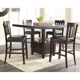 Counter Height Dining Table and 4 Barstools With Storage