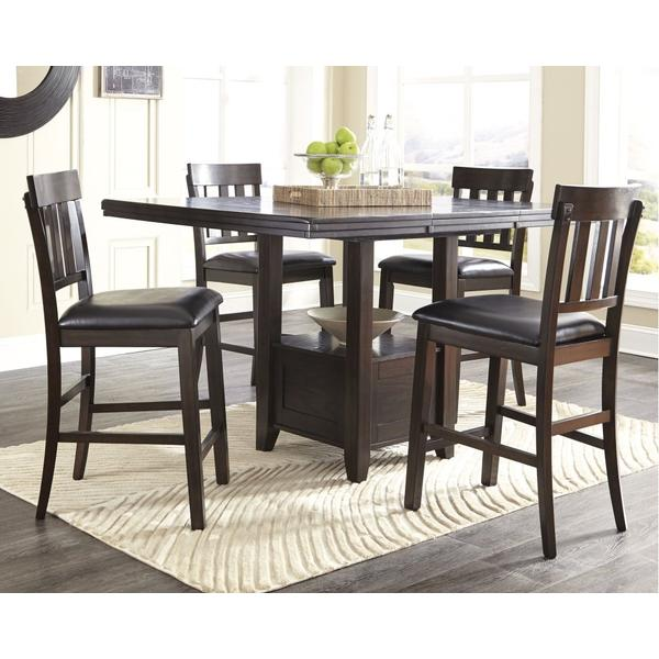 See Details - Counter Height Dining Table and 4 Barstools With Storage