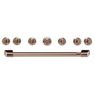 "Cafe36"" Brushed Copper Handle & Knob Set for Pro Range and Rangetop"