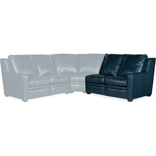Bradington Young Sectionals 201 Raymond Reclining Sectional with One-Piece Back