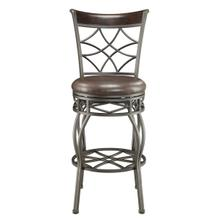 Swivel Metal Cross Back 2-in-1 Bar Stool