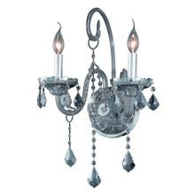 7852 Verona Collection Wall Sconce D:14in H:20in E:8.5in Lt:2 Silver Shade Finish
