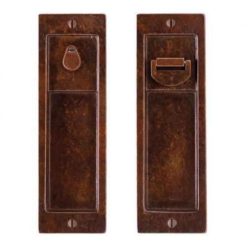 Rocky Mountain Hardware - Pocket Door Lock - FP308 White Bronze Light