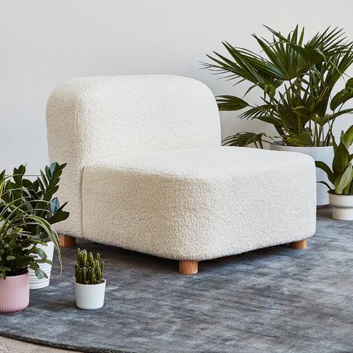 Product Image - Circuit Modular Armless Chair Huron Petal / Natural Ash