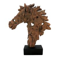 View Product - Rustic Wood Horse Bust Sculpture