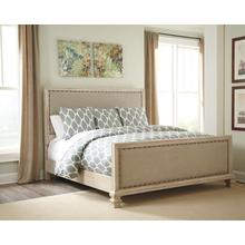 Demarlos Queen Uph Panel Footboard Parchment White