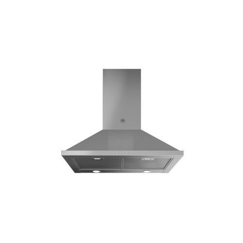 30 inch Wallmount Chimney Hood, 1 motor 600 CFM Stainless Steel