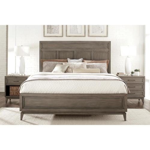 Vogue - Queen Panel Footboard - Gray Wash Finish