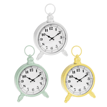 Enamel Round Desk Clock (3 pc. ppk.)