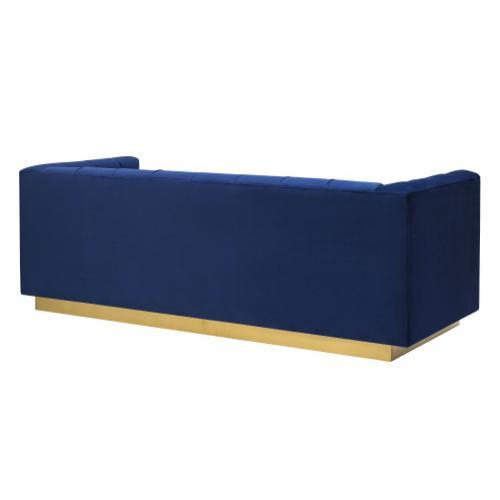 Tov Furniture - Roma Navy Velvet Sofa