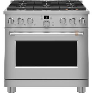 "Cafe Appliances36"" Smart All-Gas Commercial-Style Range with 6 Burners (Natural Gas)"
