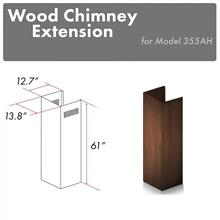 """See Details - ZLINE 61"""" Wooden Chimney Extension for Ceilings up to 12.5 ft. (355AH-E)"""