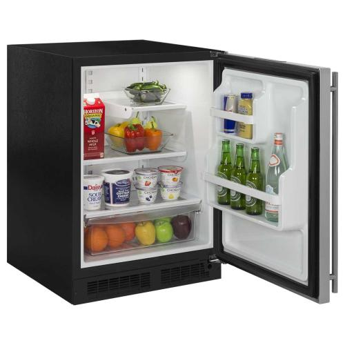 24-In Built-In All Refrigerator With Maxstore Bin with Door Style - Stainless Steel, Door Swing - Right