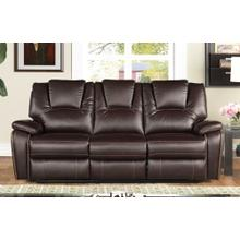 8085 DARK BROWN Manual Recliner Air Leather Sofa