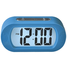 Portable Alarm Clock With Durable Silicone Cover - Blue
