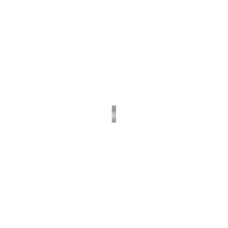 "Classic 48"" Stainless Steel Flush Inset Freezer Door Panel with Tubular Handle"
