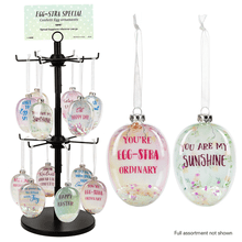 Confetti Filled Easter Egg Glass Ornaments Assortment (24 pc. assortment)