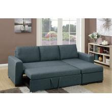 Tahlia 2pc Sectional Sofa Set, Blue-grey