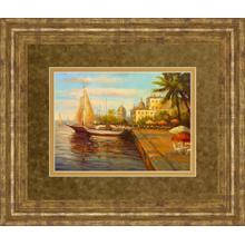 """Santo Domingo Harbor"" By Bulo Framed Print Wall Art"