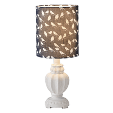 Distressed White Accent Lamp with Bird Shade. 40W Max.