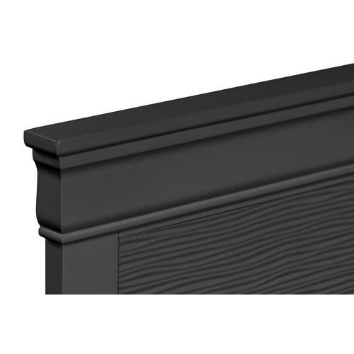 Wave Queen Panel Bed, Black