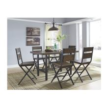 See Details - Dining Room Counter Table, 4 Stools & Bench