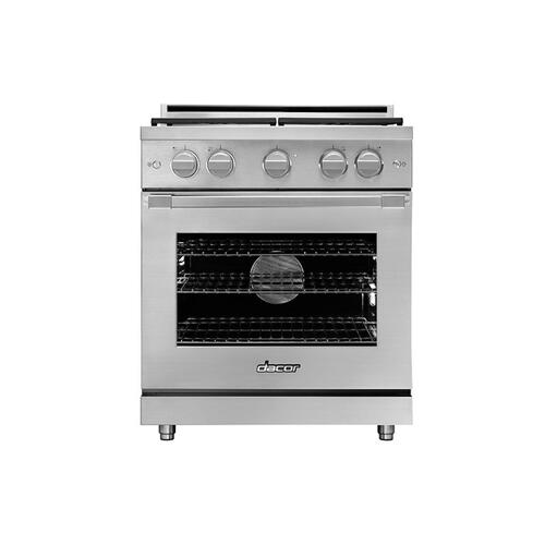 "30"" Gas Range, Silver Stainless Steel, Liquid Propane/High Altitude"