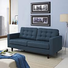 See Details - Empress Upholstered Fabric Loveseat in Azure