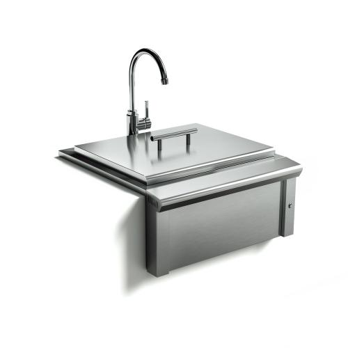 24in Apron Sink and Faucet
