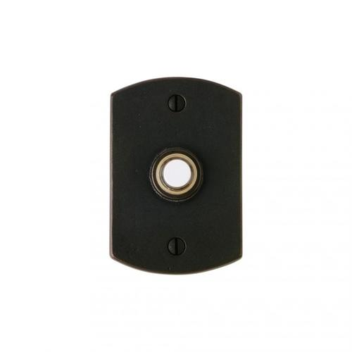 Curved Doorbell Button Silicon Bronze Brushed