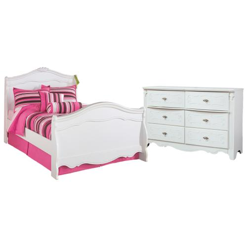 Twin Sleigh Bed With Dresser