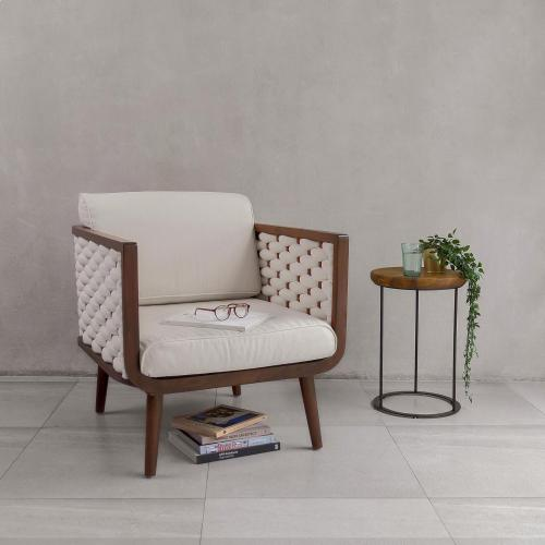New Pacific Direct - Geneve Mahogany Accent Arm Chair Harvest Brown Frame, Pearl