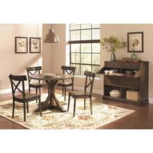 Callista Round Dining Set - Table and 4 Chairs