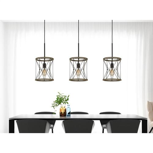 Cal Lighting & Accessories - 60W Modica Metal Pendant (Edison Bulb Not included)
