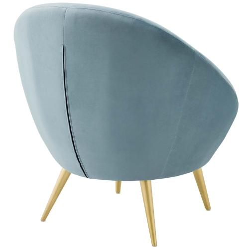 Modway - Circuit Performance Velvet Accent Chair in Light Blue