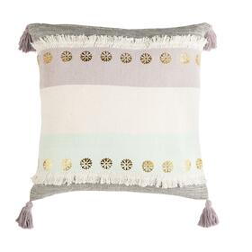 Norra Pillow - Purple / Grey / Teal / Gold