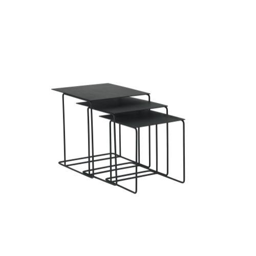 TABLES,NESTING-METAL TOP SET/3