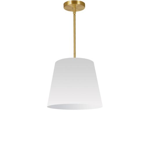 1lt Oversized Drum Pendant Small, Wh Shade