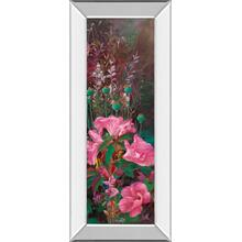"""Pink Azalea Garden Il"" By Li Bo Mirror Framed Print Wall Art"