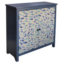 Destin Indigo School of Fish 2 Door Cabinet