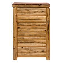 Log Front Five Drawer Chest - Natural Cedar - Log Front - Premium