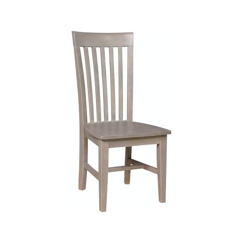 Tall Mission Chair in Taupe Gray