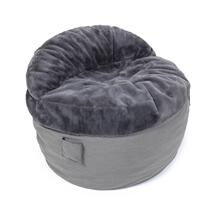 Full Chair - NEST Bunny Fur - Charcoal